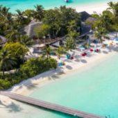 Lux South Ari Atoll aerial view 1