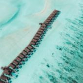 Lux South Ari Atoll aerial view