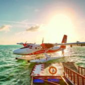 Lux South Ari Atoll arrival jetty